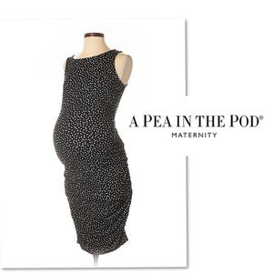 A Pea in the Pod Dresses - A pea in the pod black white maternity dress SZ S